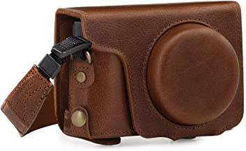 MegaGear Ever Ready Genuine Leather Camera Case compatible with Panasonic Lumix DMC-TZ100  DC-TZ200