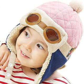 Pilot Aviator Fleece Warm Wool Hat Cap with Earmuffs for Kids with Stylus