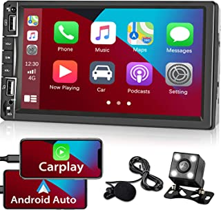 $99 » Double Din Apple Carplay Stereo Touch Screen Car Radio Compatible with Android Auto Car Play 7 Inch Bluetooth Car Stereo