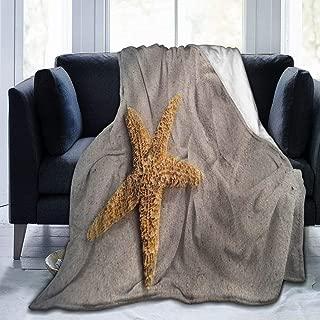 SLHFPX Micro Fleece Plush Soft Baby Blanket Starfish Heart Fluffy Warm Toddler Bed/Crib Blanket Lightweight Flannel Daycare Nap Kids Sleeping Tummy Time Throw Blanket Girls Boy