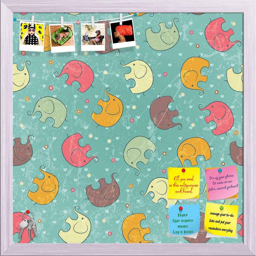 Artzfolio Ranking TOP16 Baby Beauty products Elephants Printed Notice Pin Board Bulletin