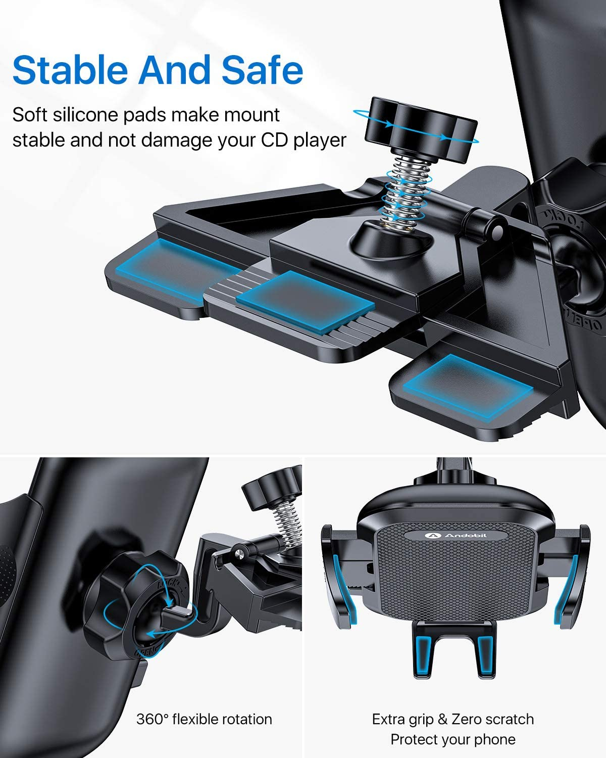 Andobil CD smartphone mount for ford fiesta