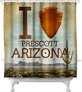 Lantern Press I Heart Prescott Arizona 50938 (74x74 Polyester Shower Curtain)