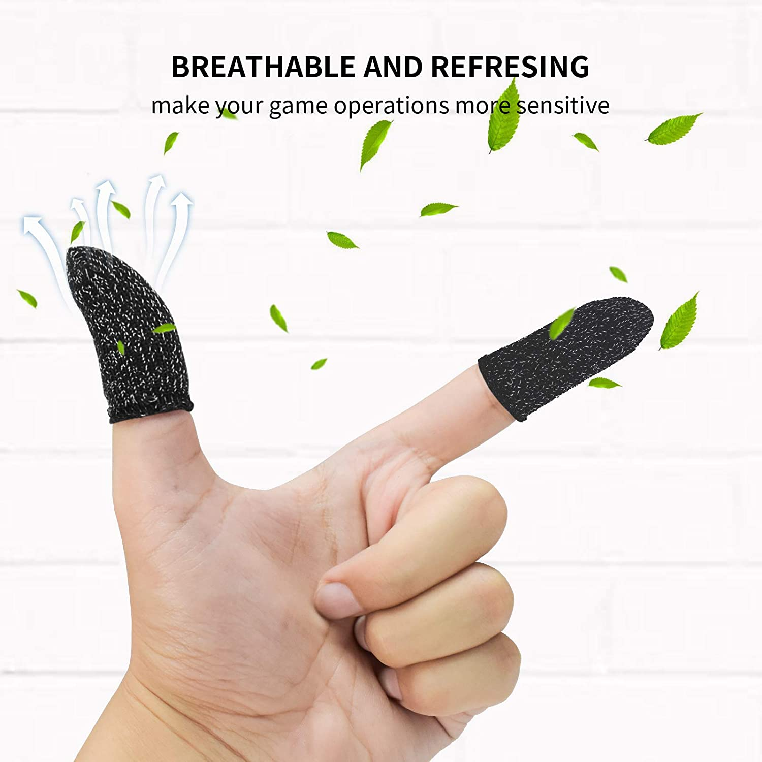 12 Pack Newseego PUBG Mobile Game Finger Sleeve Touch Screen Gaming Finger Sleeve Breathable Anti-Sweat Sensitive Shoot and Aim Keys for Rules of Survival//Knives Out for Android /& IOS