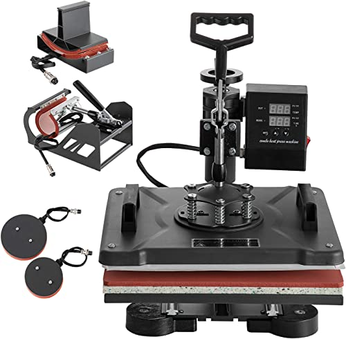 wholesale SHZOND Heat new arrival Press 12x15 Inch 5 in new arrival 1 Combo Heat Transfer Machine Multifunctional Transfer Sublimation Heat Press Machine for T Shirts/Hat/Mug/Plate online sale