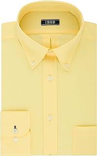 Izod Mens Regular Fit Stretch Solid Buttondown Collar Dress Shirt