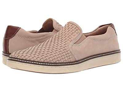 Johnston & Murphy McGuffey Woven Casual Slip-On Sneaker (Beige Tumbled Nubuck) Men