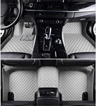 Jiahe Car Floor Mats for Jeep Grand Cherokee 2011-2018 Full Covered Leather Carpet Auto All Weather Protection Front & Rear Liner Set Gray