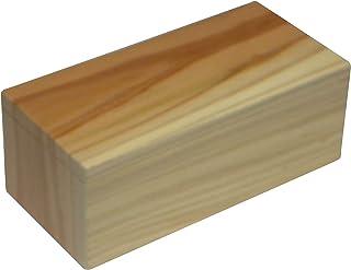 天然杉無垢板一枚五面つづき木目弁当 S (アイボリー系・ブラウン系ミックス) Sサイズ 外寸法約 長さ 165X巾80X高さ63 容積約 540cc