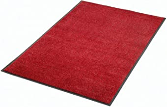 """product image for Apache Mills Plush Super Absorbent Mat, 36""""W X 120""""L, Red-Black"""