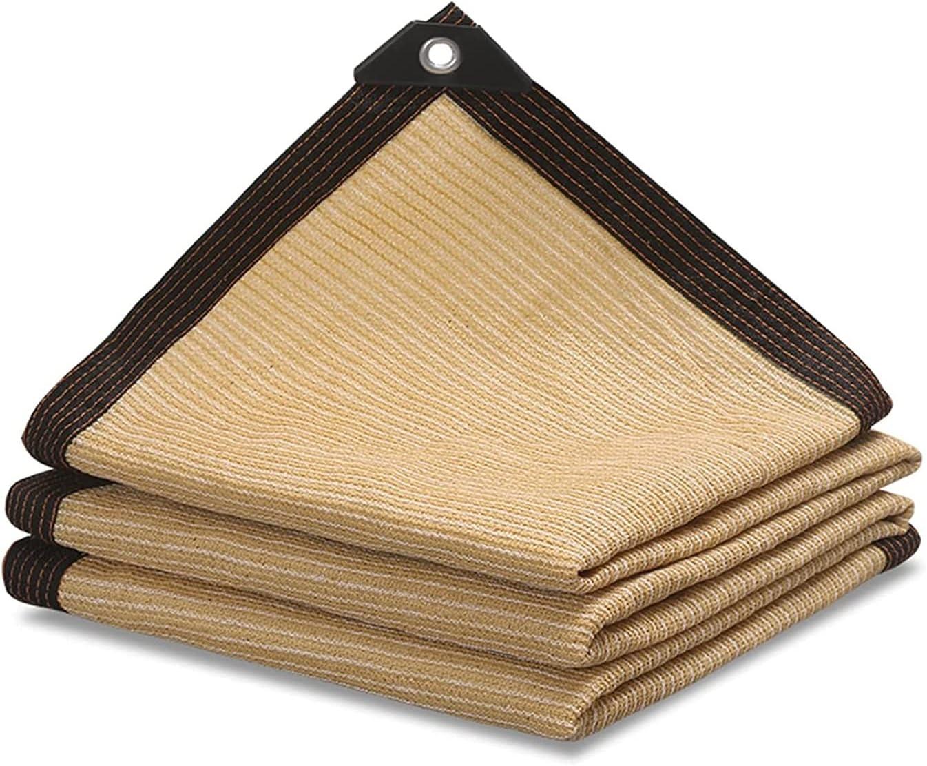 LLCY Shade Cloth Beige Sunblock UV Max 82% OFF Edge Cut Resista Trust