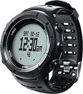 EZON Men's Digital Sports Watch for Outdoor Hiking with Compass Altimeter Barometer Thermometer Waterproof Wristwatch H001H11
