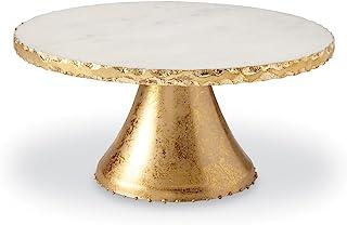 پایه سرویس کیک پایه ای سنگ مرمر Mud Pie ، طلایی