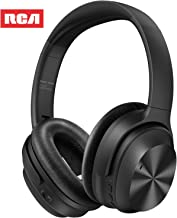 Active Noise Canceling Headphones, RCA Bluetooth 5.0 Headphones Over Ear Wireless Headphones with Mic, Foldable Soft Prote...