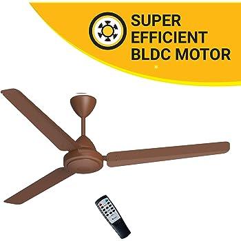 Atomberg Efficio 1400 mm BLDC Motor with Remote 3 Blade Ceiling Fan(Matt Brown, Pack of 1)