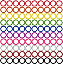 Colorful Iron O-Rings & Stitch Ring Markers for Knitting/Crochet/etc, (Includes 10 Colors, for Knitting/Crochet/etc (Small (Internal Diameter 9mm), 100pcs)