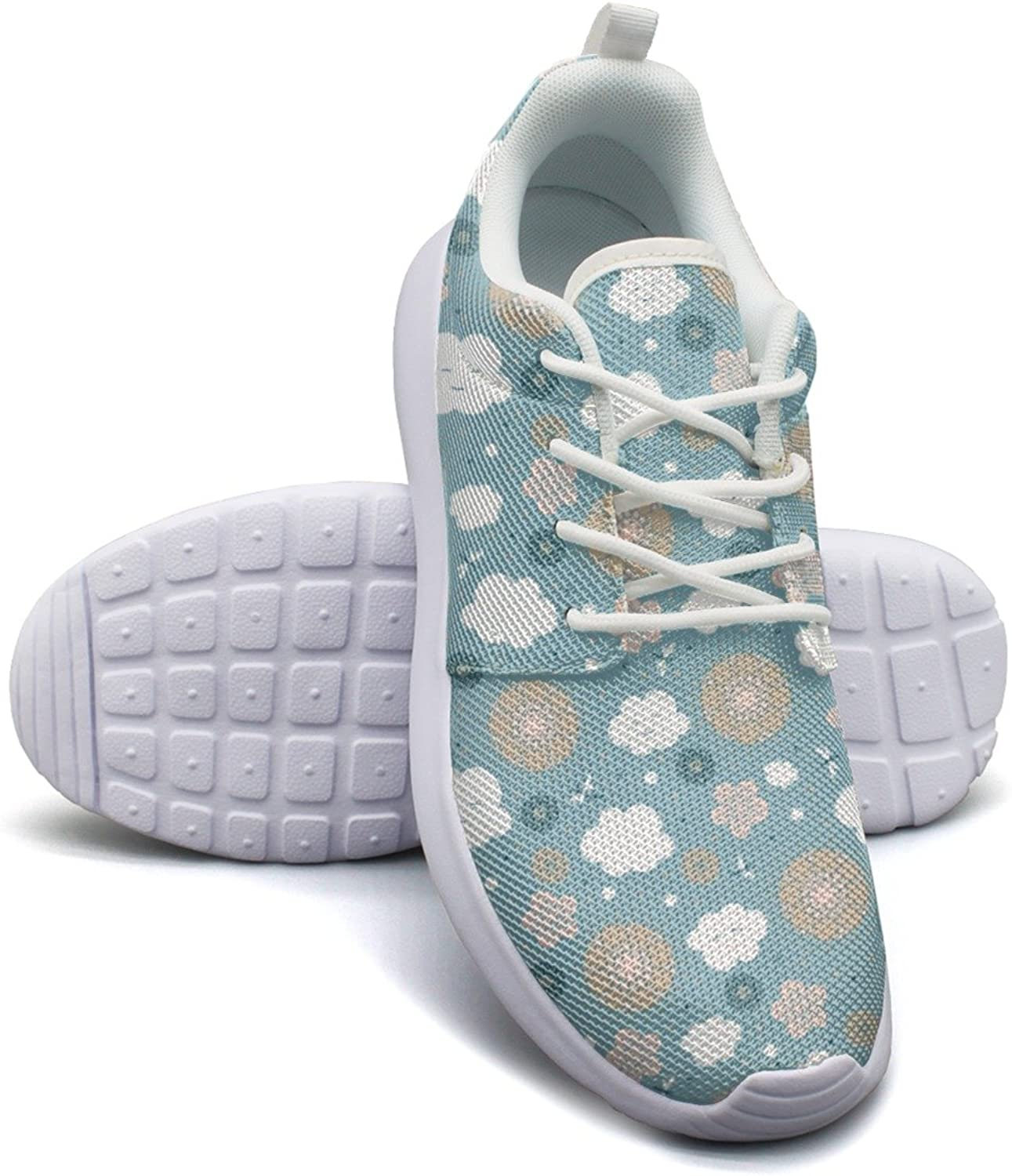 Eoyles gy Artificial Flowers with Clouds Women's Slip Resistant Lightweight Running Walking shoes