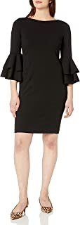 Calvin Klein Women's Tiered Bell Sleeve Dress