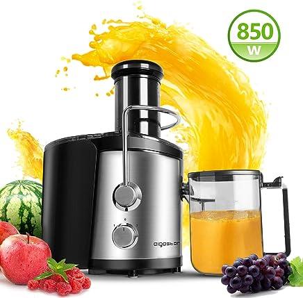 Aigostar MyFrappe Black 30IMX - 850W Licuadora semiprofesional para frutas y verduras con dos velocidades, jarra de 1,25 litros. Cuerpo de acero inoxidable de tipo 304 y libre BPA. Diseño exclusivo.