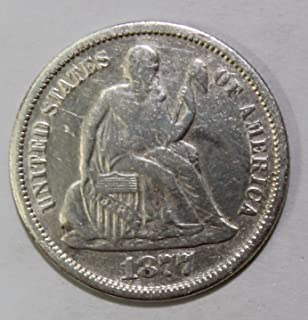 1877 S Seated Dime 10c Very Fine