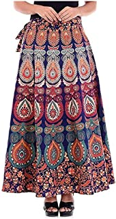 Rangun Printed Cotton Wrap Around Skirt For Women's