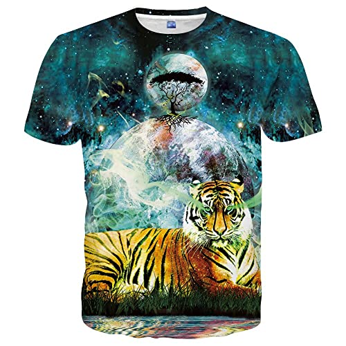 746dcf21775 Yasswete Unisex Hipster Tops 3D Fashion Pattern Printed Short Sleeve T- Shirts
