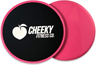 Cheeky Fitness| Core Exercise Sliders Set of 2 | Dual Sided Gliding Discs for Abs and Full Body Workout Fitness Exercise E...