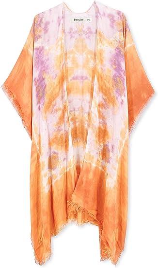 cool orange beachwear dip dye fashionable cover-up
