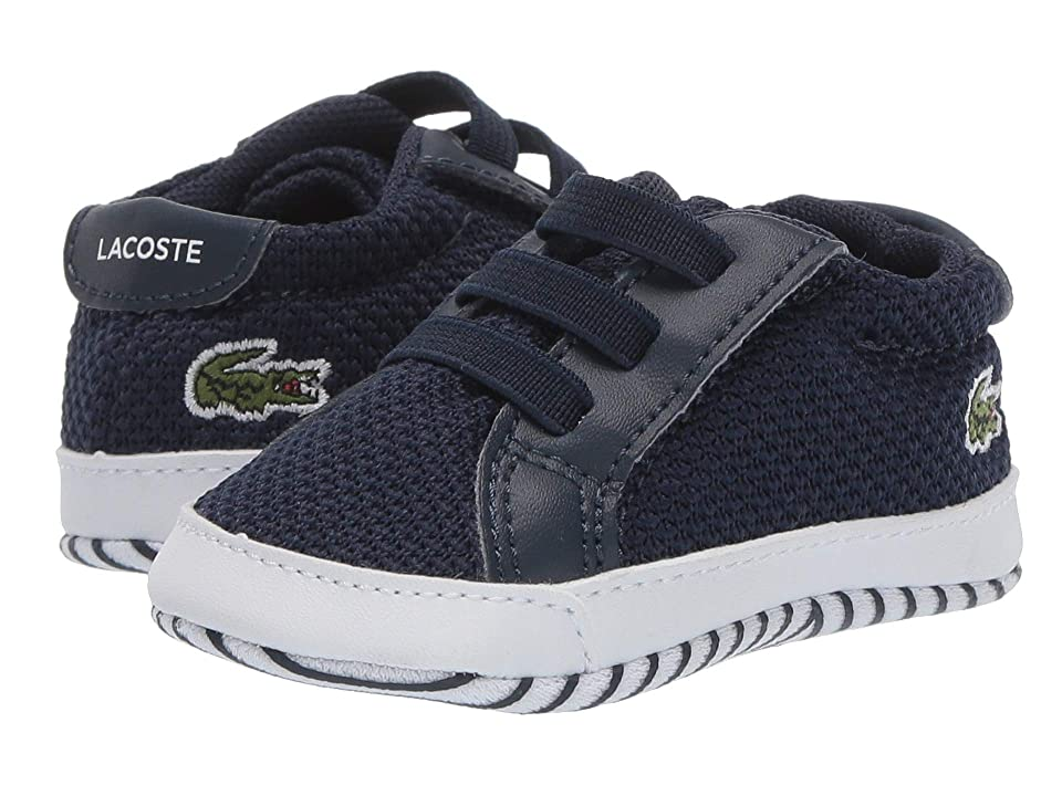 Lacoste Kids L.12.12 Crib 318 (Infant/Toddler) (Navy/White) Kid