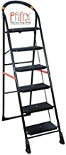 Paffy Premium Heavy Folding Ladder With Wide Steps - Milano 6 Steps (6.1 Ft Ladder)