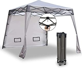 EzyFast Elegant Pop Up Beach Shelter, Compact Instant Canopy Tent, Portable Sports Cabana, 7.5 x 7.5 ft Base / 6 x 6 ft to...