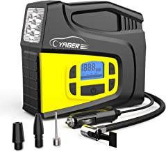 YABER Car Air Compressor,12V 150PSI Digital Portable Car Tyre Inflator with LCD Screen LED Lamp and 3 Nozzle Adaptors Air Compressor Pump