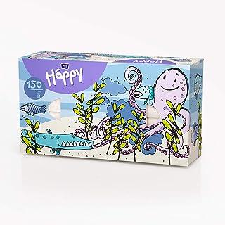 bella baby Happy Chusteczki higieniczne pudełko 2-warstwowe, opakowanie z motywem ośmiopu, 150 sztuk