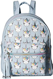 Unicorn Print Mini Backpack Blue One Size