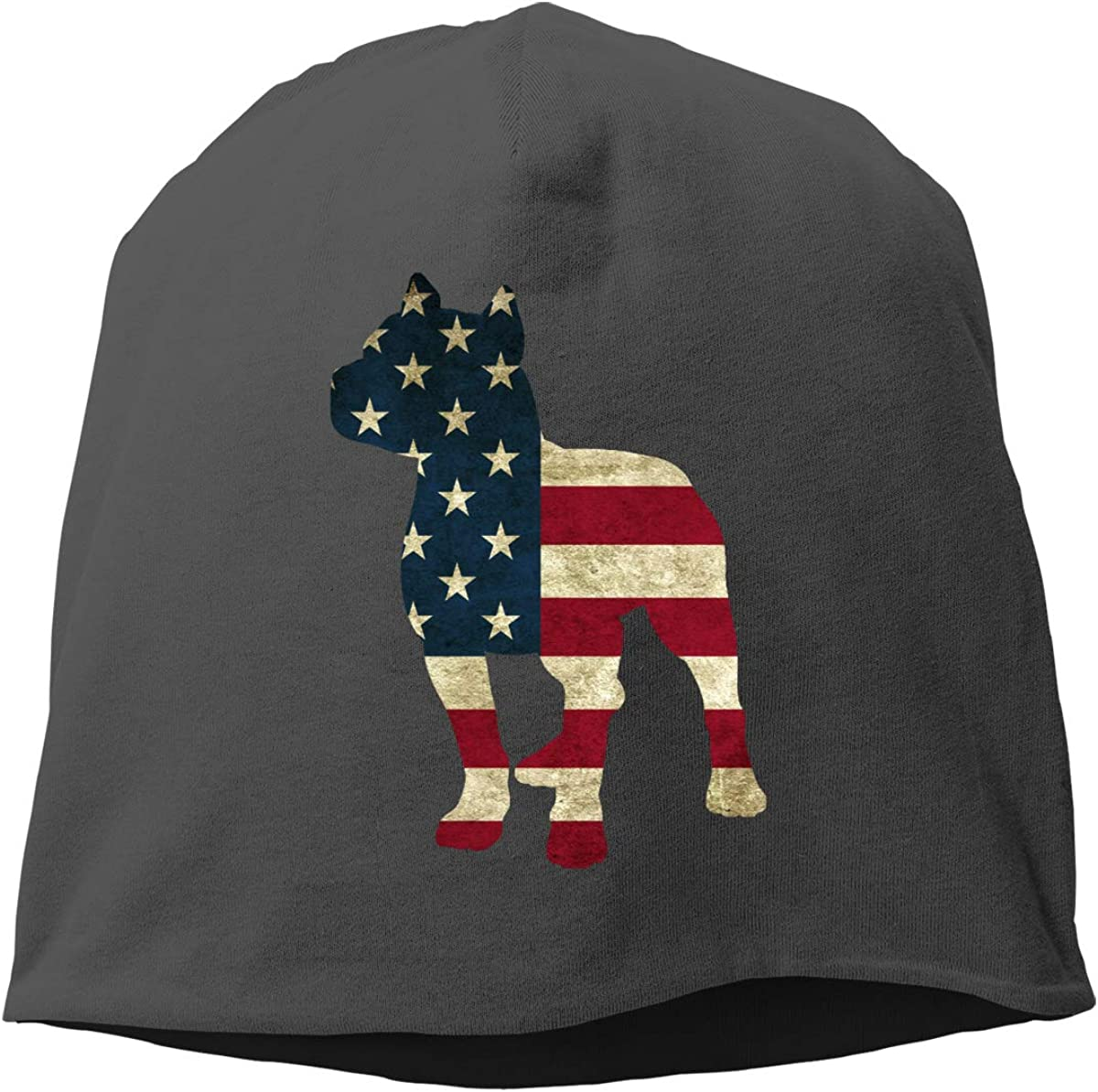 allgobee Slouchy Beanie Patriotic Pitbull Baggy Weekly update Un American Japan's largest assortment Flag
