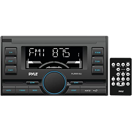Pyle PLRRR18U Digital Receiver with USB/SD Memory Card Readers, AM/FM Radio, AUX Input, Remote Control, Double-DIN
