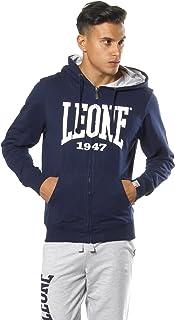 01223220ea15d5 LEONE 1947 APPAREL Sport Fight Activewear, Felpa con Cappuccio E Zip Uomo