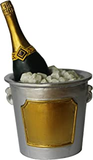 Champagne Ice Bucket Resin Cake Decorating Topper - 4.5cm x 8cm