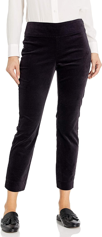 デポー NIC+ZOE Women's 正規取扱店 Stretch Velvet Side Zip Pant