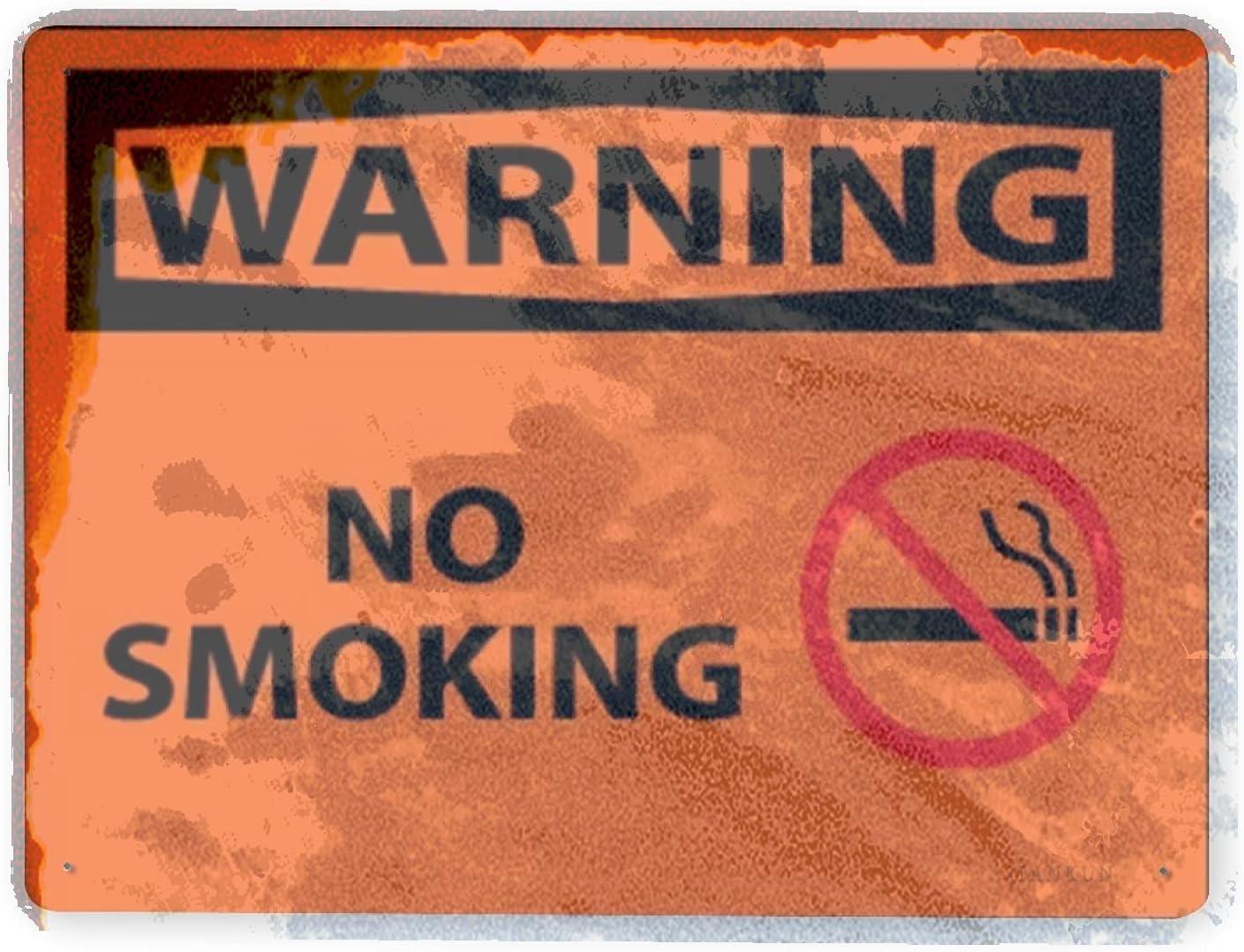 J.DXHYA Man Cave Decor 2 Smoking Pieces Sign Dedication No Ranking TOP10 Warning