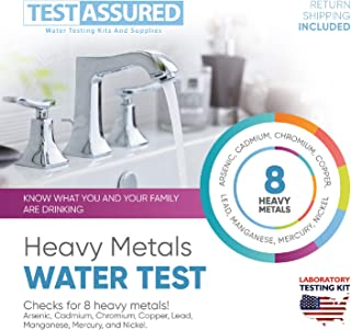 Test Assured Heavy Metals Water Test Kit - Easy at-Home Municipal and Well Water Test Kit - Mailed-in Laboratory Heavy Metal Testing Kit