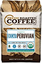 Fresh Roasted Coffee LLC, Organic Decaf Peruvian Coffee, Swiss Water Decaf, USDA Organic, Fair Trade, Medium Roast, Whole Bean, 2 Pound Bag