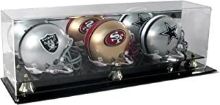 SAFTGARD SUPPLIES Deluxe Acrylic Triple MINI Football Helmet Display Case