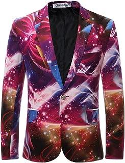 Men's Blazer Slim Fit Notched Lapel Suit Jacket Coat