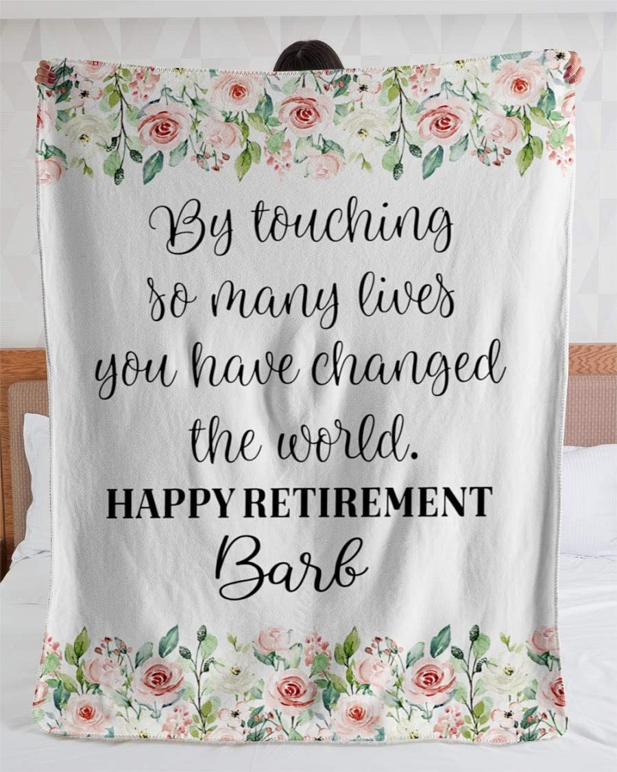 Max 68% OFF Personalized Blanket for Gifts Las Vegas Mall Women Retirement