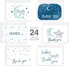 Starry Delight Thank You Notes/Baby Shower Thank Yous/New Baby Thank Yous / 24 Count