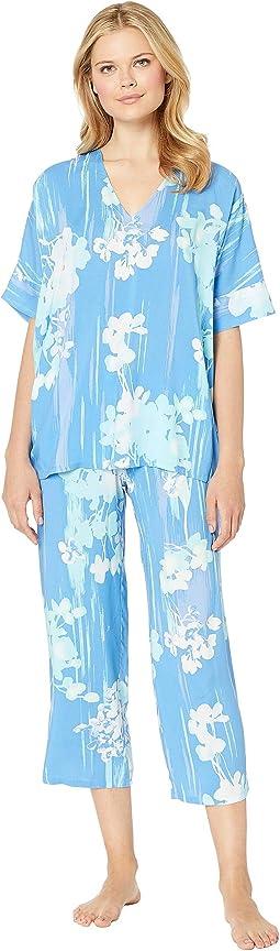 Printed Rayon Challis Pajama Set