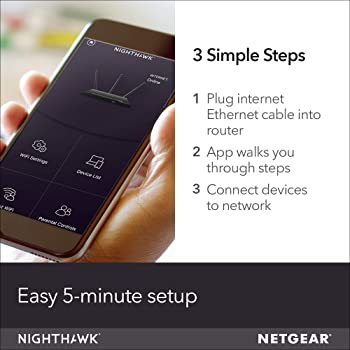 NETGEAR Nighthawk Smart WiFi Router (R6700) - AC1750 Wireless Speed (up to 1750 Mbps) | Up to 1500 sq ft Coverage & 2...
