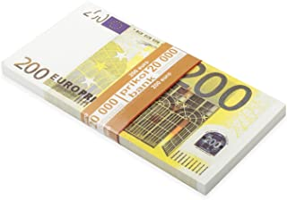 Olshop Prop Money, (80) New 200 Euro Bill, Pranks, Play Money for Kids