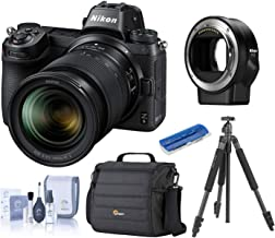 Nikon Z6 FX-Format Mirrorless Camera w/NIKKOR Z 24-70mm f/4 S Lens, Bundle with Mount Adapter FTZ, Camera Bag, Slik Sprint Pro II Aluminum Tripod with SBH-100DQ Ball Head, Cleaning Kit